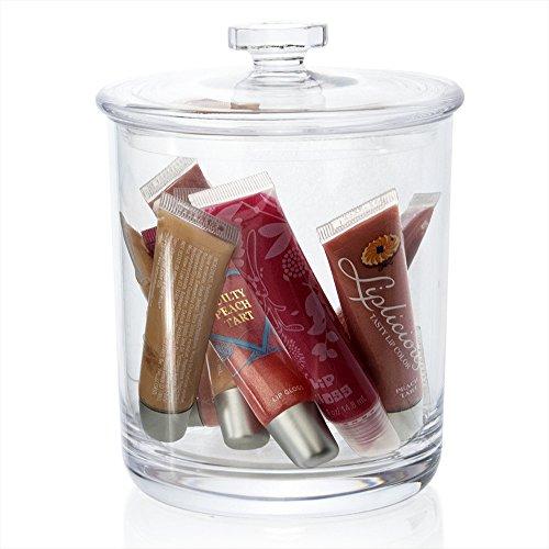 30-ounce Premium Quality Clear Plastic Apothecary Jar (60 Ounce Jar)
