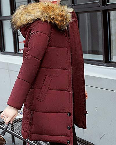 Fit Slim Vin Léger Portable 3xl Zhuikuna Pour Capuche Rouge Ultra À Veste Femmes Matelassée FEZx5R