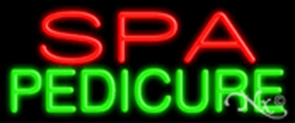 24x10x3 inches Spa Pedicure NEON Advertising Window Sign