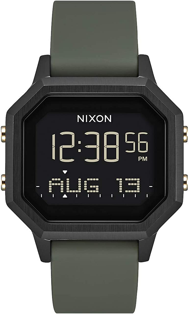 NIXON Siren SS A1211-100 Meter / 10 ATM Water Resistant Women's Digital Sport Watch (36mm Watch Face, 18mm-16mm Band)