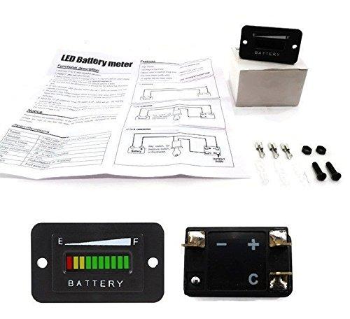 The ROP Shop Indicador de medidor de batería de 36 voltios para el carro de golf EZGO Club Car Yamaha