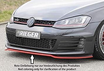 Rieger Frontal Alerón Espada Negro Mate para Volkswagen Golf 7 GTI/GTD: 04.13 - 12.16 (hasta Facelift): Amazon.es: Coche y moto