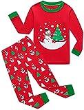 shelry Boys Christmas Pajamas for Girls Santa Tree Sleepwear Toddler Children Snowman Clothes Size 8