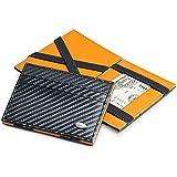 Dalvey RFID Protection Flip Wallet Carbon Fibre Black and Orange