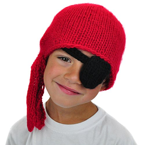 NeonEaters Pirate Beanie With Patch - Cute Funky Boys Winter Ski Snowboard Warm Kids - Beanie Patch Snowboard