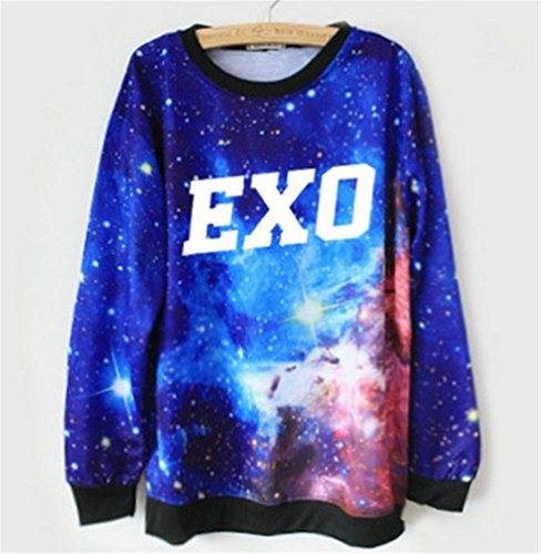 EXO Sweater Starry Round Collar Pullover Shirt