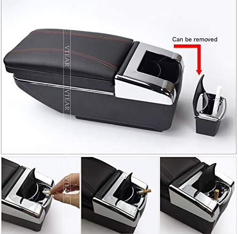 car-styling Armlehnen For i10 armrest box central storage box decoration Storage bag cup holder accessories