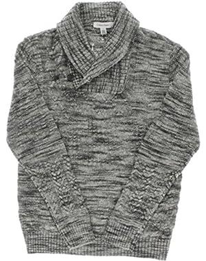 Calvin Klein Men's Patterned Shawl Collar Sweater