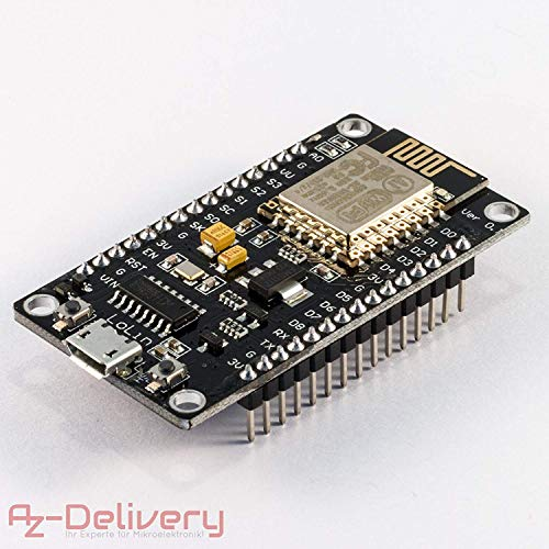 AZDelivery ⭐⭐⭐⭐⭐ Nodemcu Lua Lolin Module V3 ESP8266 ESP 12E WiFi Development Board with CH340