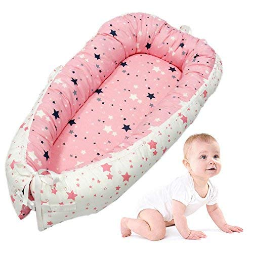 Baby Lounger, leegoal Portable Super Soft and Breathable Newborn Infant Bassinet,Water Resistant...
