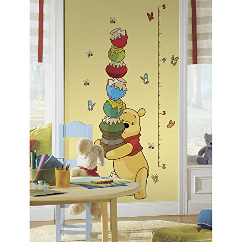 RoomMates Winnie The Pooh - Pooh Peel and Stick Inches Growth Chart ()