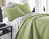 Oversized Quilts for King Size Beds Southshore Fine Linens - Vilano Springs Oversized 3 Piece Quilt Set, King/California King, Sage Green