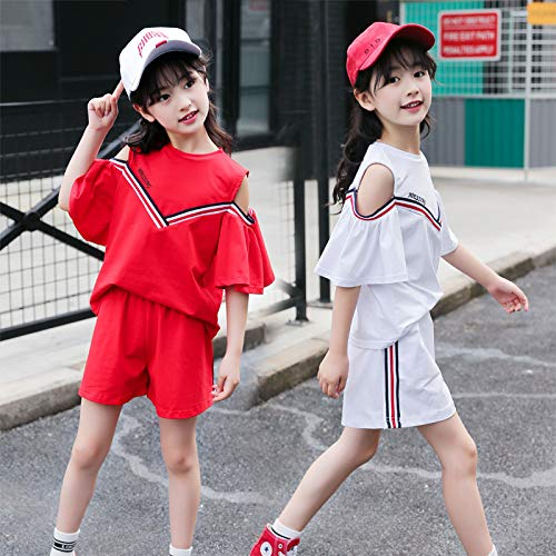 MV Navy Wind School V-Neck Girls Two-Piece Suit Student Shorts Cotton Sports Korean