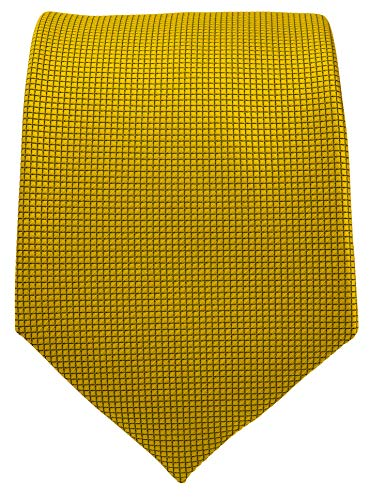 Micro Dot Solid Color Ties for Men - Woven Necktie - Gold ()