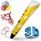 Manve Intelligent 3D Printing Pen, 3D Drawing Model Making Doodle Arts & Crafts Drawing, Stimulate childrens' creativity, improve spatial thinking ability.(Send ABS Fibrous Material) ...