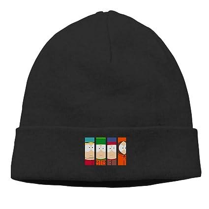 AlexisW Unisex South Park Cuffed Plain Skull Knit Hat Cap Snowboard Hat  Black 1c60218bb27