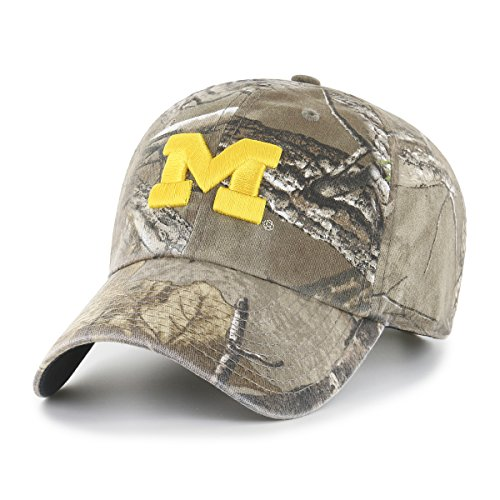- NCAA Michigan Wolverines Realtree OTS Challenger Adjustable Hat, Realtree Camo, One Size