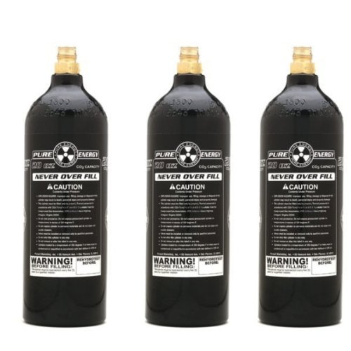 3 Pack PMI Pure Energy 20oz CO2 Paintball Tanks Pure Energy Co2 Tank