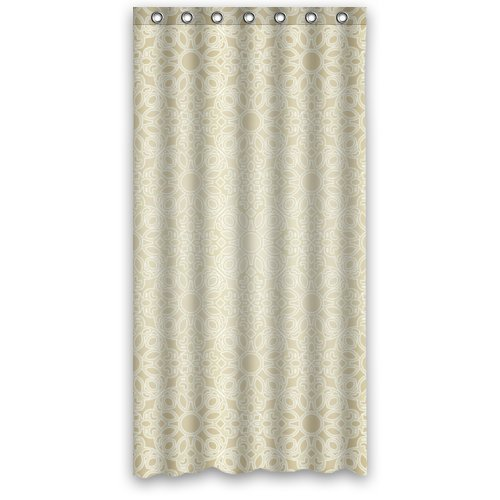 "UPC 631266049108, 36""x72"" Inches - Simple Elegance Style Shower Curtain 100% Waterproof Polyester Fabric Bathroom Curtain,Shower Rings Included"