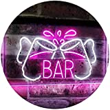 AdvpPro 2C Home Bar Beer Mugs Cheers Decoration Man Cave Dual Color LED Neon Sign White & Purple 12'' x 8.5'' st6s32-i2814-wp