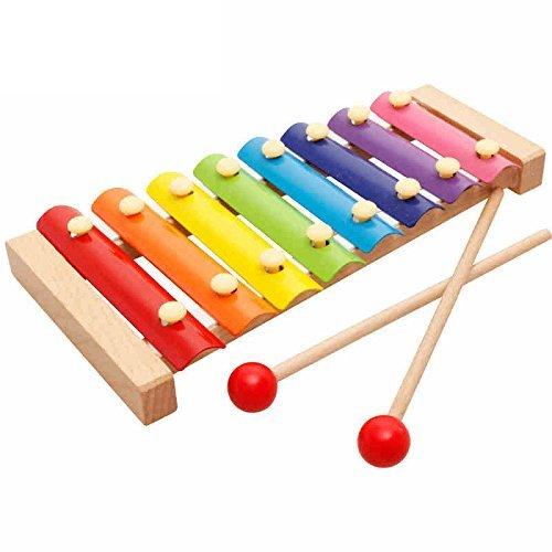 Linshop 幼児教育の木製の手を打った8つのピアノ音楽赤ちゃんおもちゃ- 3歳