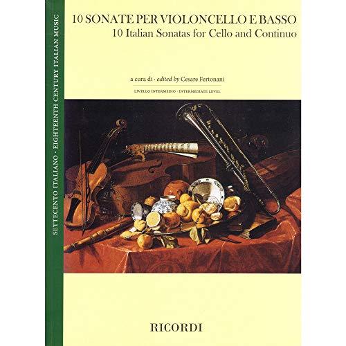 10 Italian Sonatas for Cello and Piano