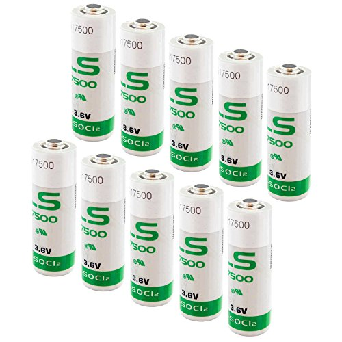 - 10x SAFT LS17500 Size A 3.6V 3600mAh Primary Lithium Battery for Maxell and More