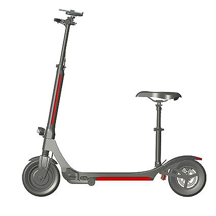 SJZY Scooter Eléctrico Freno de Mano Plegable, Ultraligero ...