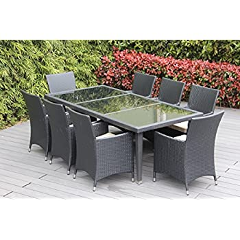 Great This Item Genuine Ohana Outdoor Patio Wicker Furniture 9pc All Weather  Dining Set With Free Patio Cover