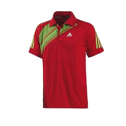 adidas red polo shirt