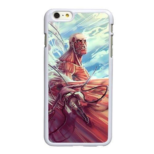 D8L56 Attaque sur Titan O5Q5ZF coque iPhone 6 Plus de 5,5 pouces cas de couverture de téléphone portable coque blanche DM7WMP3IK