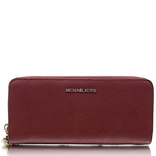 Michael Michael Kors Jet Set Travel Leather Continental Wallet: Michael Kors Womens Jet Set Travel Leather Continental