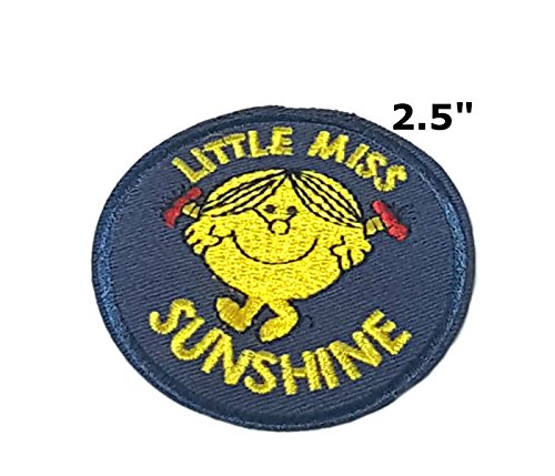 Little Miss Sunshine Cartoon Embroidered Sew or Iron-on Patch Badge DIY Application (Miss World America Costume)