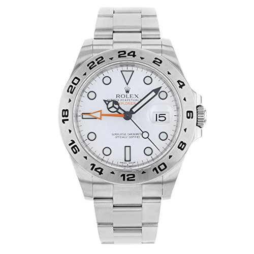 Rolex Explorer (Rolex Explorer II 40mm 2012 White Dial Date Steel Automatic Men's Watch BP 216570 (Certified Pre-Owned))