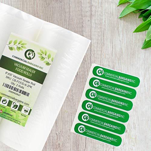 12 Large 8'' X 50' Vacuum Saver Rolls Commercial Grade Food Sealer Bags By Commercial Bargains by Commercial Bargains (Image #1)