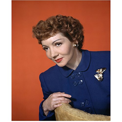 Claudette Colbert in blue jacket 8 x 10 Inch Photo