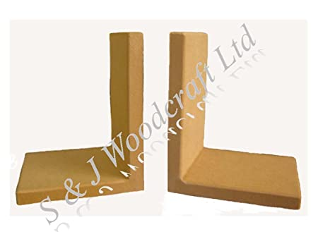 1 PAIR CHUNKY MDF BLANK BOOKEND FRAMES READY TO DECORATE