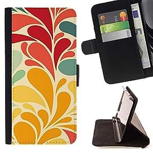 Momo Phone Case / Flip Funda de Cuero Case Cover - Hojas de las flores del papel pintado rojo del trullo - Samsung Galaxy S6 Active G890A