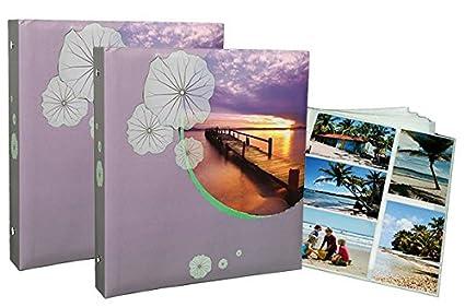 Lot 2 álbumes archivadores + – 40 recambios infinity con fundas para fotos 10 x 15