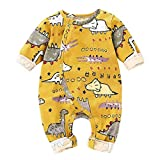 Newborn Baby Pajamas 0-3 Months Animal Printed Dinosaur Jumpsuit Baby Boy Sleeper