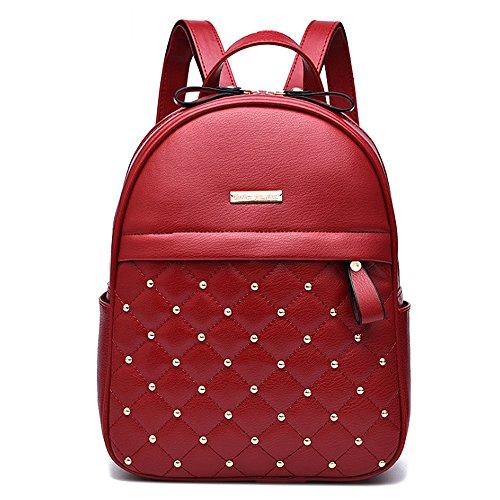 (JVP1043-C) Mujeres Luc cuero de la PU 3way bolso trasero bolso de hombro de viaje de gran capacidad Volver señoras Escuela de moda simple popular de cercanías luz Azul