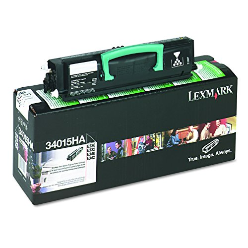Lexmark 34015HA Return program print cartridges for ibm e330, e332, high-yield (E342n Yield Toner High)