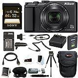 Nikon Coolpix A900 Digital Camera (Black) w/ 32GB Card & Accessory Bundle