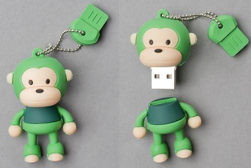 4GB Green Monkey stick//pen//thumb USB Flash Memory Drive