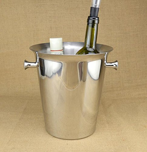n ice bucket/Champagne Bucket/Ice grain bucket/KTV beer barrel/ice bucket/Wine barrel/z TA11751 ( Color : 5L Silver ) ()