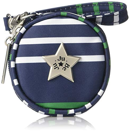 (JuJuBe Paci Pod Pacifier Wristlet, Coastal Collection - Providence - Navy/Teal/White Stripes)