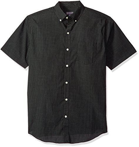 Shirt Van Heusen Free Wrinkle (Van Heusen Men's Wrinkle Free Short Sleeve Button Down Shirt, Black, Large)