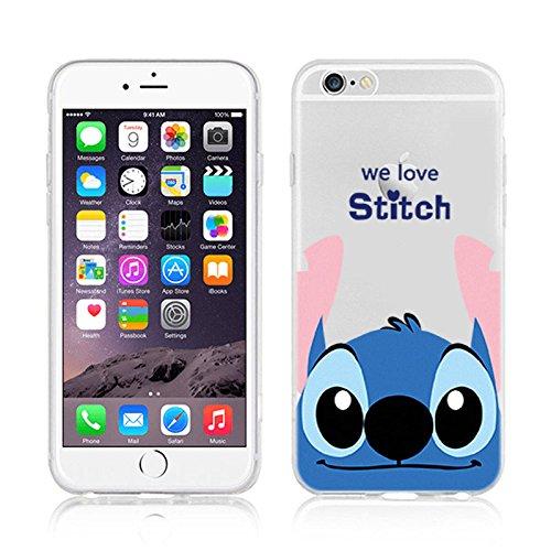 Disney Winnie Mickey Daisy & Donald Duck Clear TPU Soft Case For Apple IPHONE 6 PLUS/6 PLUS S WE LOVE STITCH .1