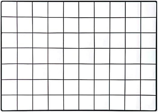 NIKKY HOME Pannello per griglia in Ferro a Parete per Display per Appendere Foto e organizzatore di Decorazioni murali Fai-da-Te memo Board 46X1X61cm Nero
