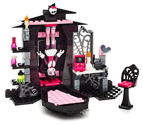 Amazon.com: Mega Bloks Monster High Draculaura\'s Vamptastic Room ...